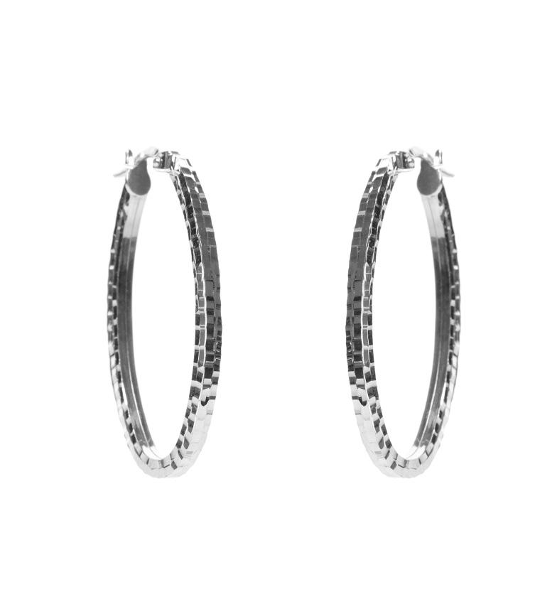 Comprar Yocari Argento con diamanti-creolo -2x4 cm-
