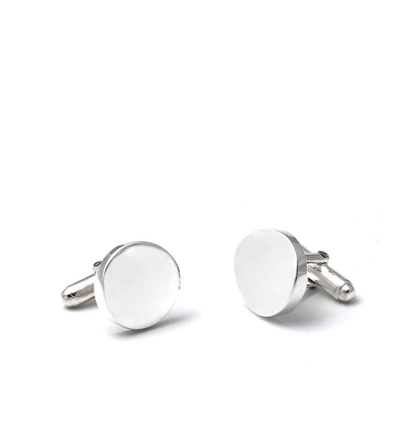 Comprar Yocari Silver Circular Cufflinks