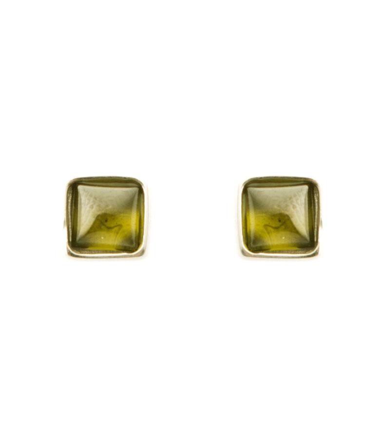 Comprar Yocari Pendientes Square plata chapada en oro, verde