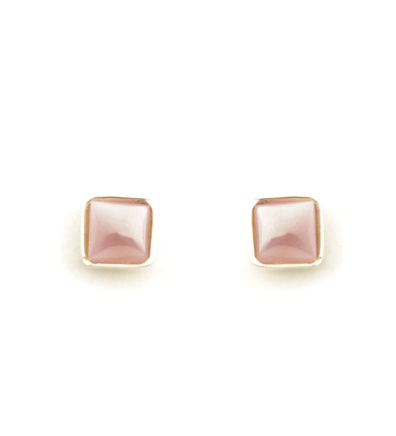 Comprar Yocari Pendientes Square plata chapada en oro, rosa