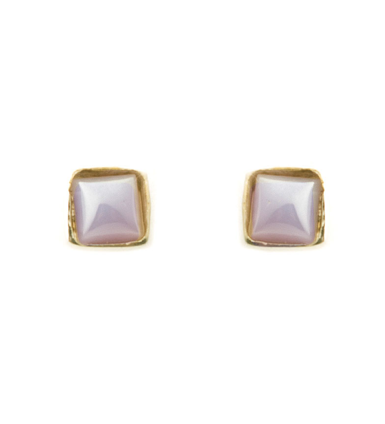 Comprar Yocari Square earrings gold plated silver, lilac