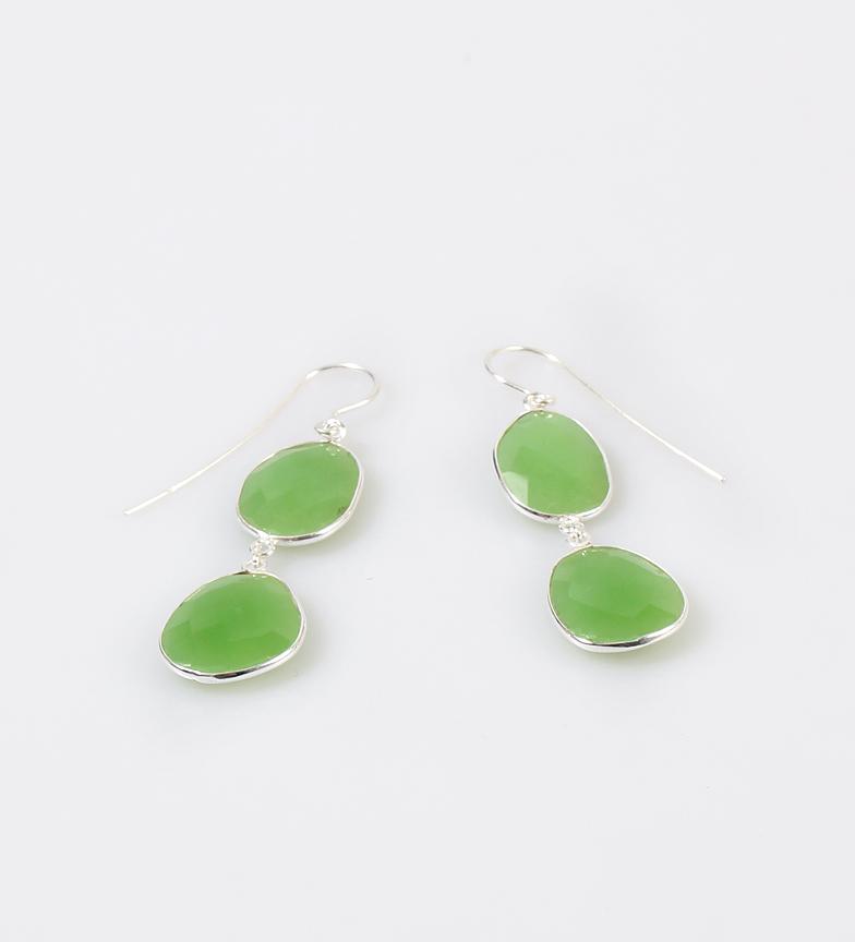 Comprar Yocari Isla brincos de prata, quartzo verde