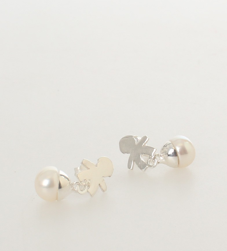 Comprar Yocari Pendientes Niño plata, perlas blancas
