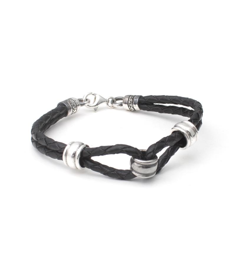 Comprar Yocari Anelli braccialetto d'argento, cuoio
