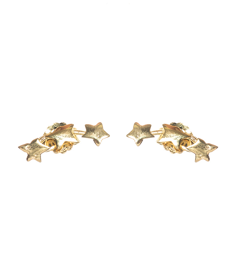 Comprar Yocari Pendientes de plata de ley Estrellas chapado en oro 18K