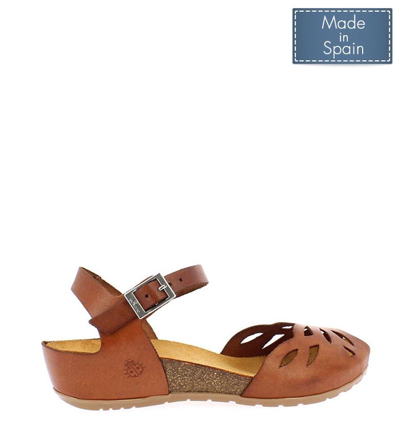 Comprar Yokono Sandalias de piel Capri 003 marrón -Altura cuña: 4 cm-