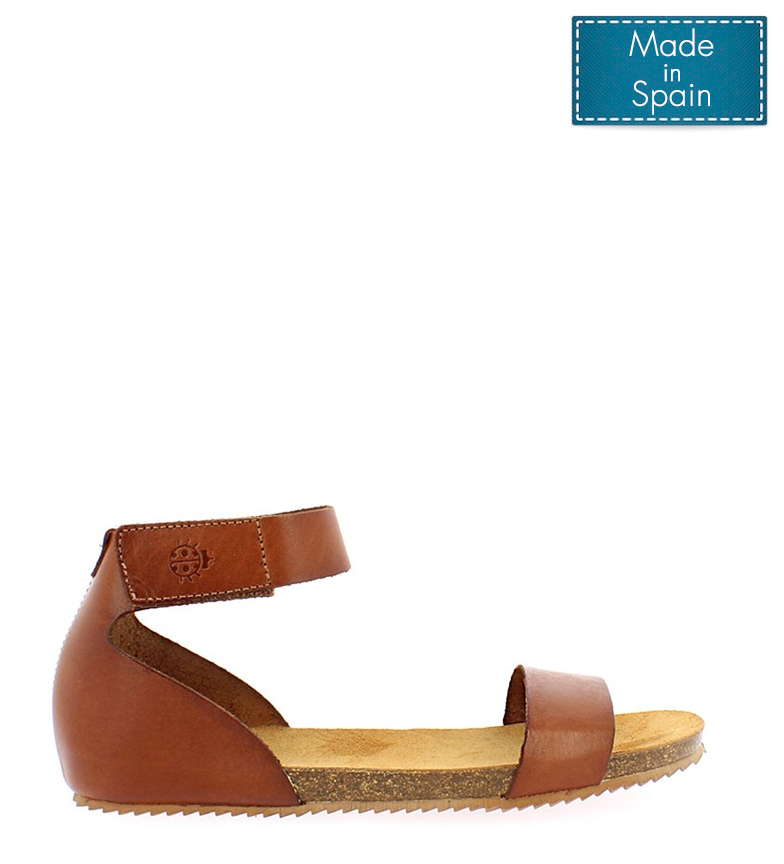 Comprar Yokono Genova 400 walnut leather sandal