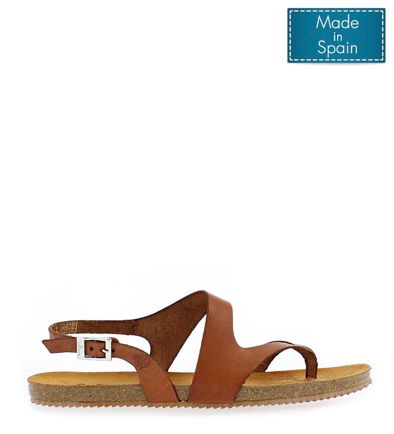 Comprar Yokono Leather sandal Genova 500 walnut