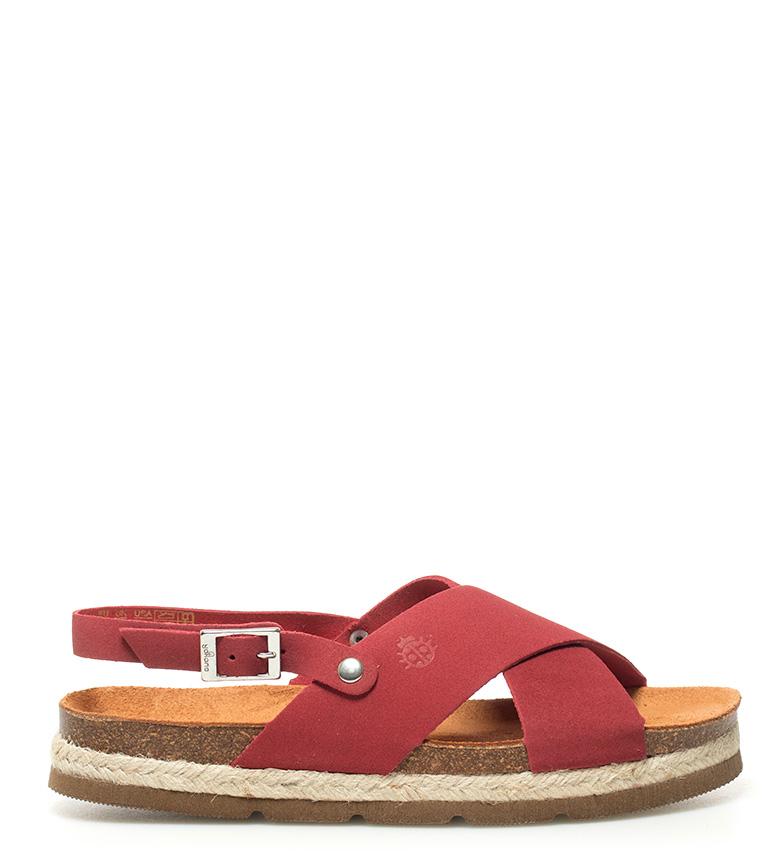 Yokono - Sandalias de piel Java 029E rojo EfzEFt2u8o