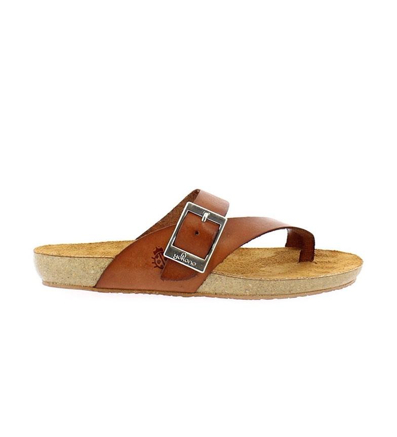 Comprar Yokono Sandálias de couro castanho Ibiza 013