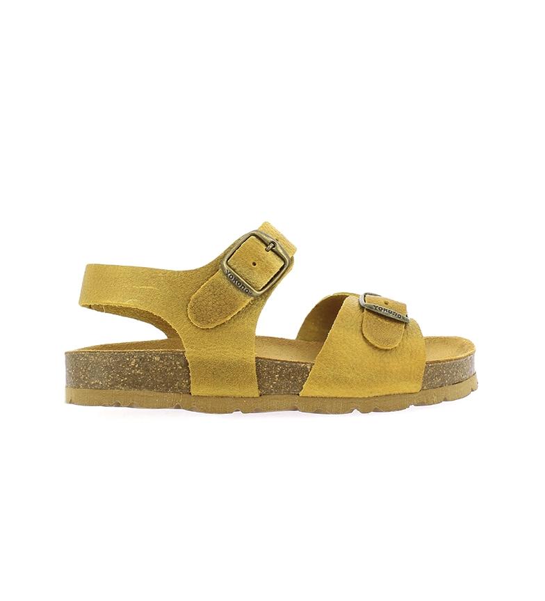 Comprar Yokono Sandálias de couro Jamaica-045 mostarda