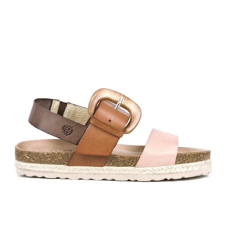 Comprar Yokono Java 064 sandali in pelle marrone