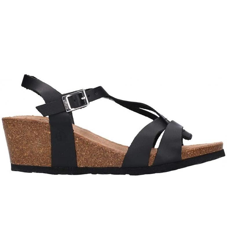 Comprar Yokono Sandálias de couro Cádiz 014 preto -Cunha de altura: 6 cm
