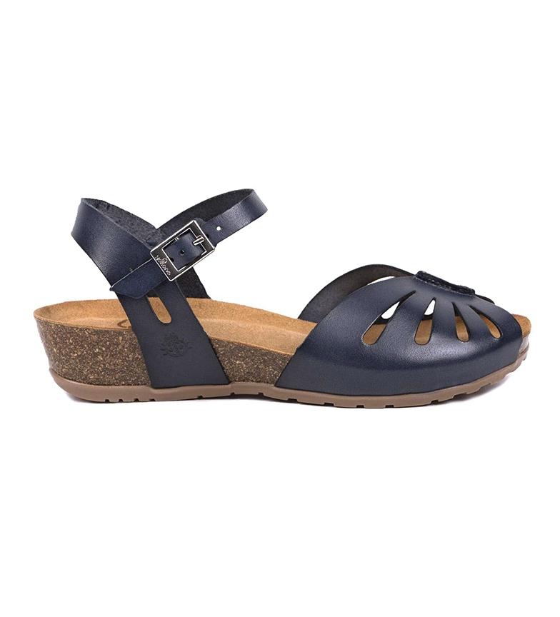 Comprar Yokono Sandalias de piel Capri 071 marino -Altura cuña: 4cm-