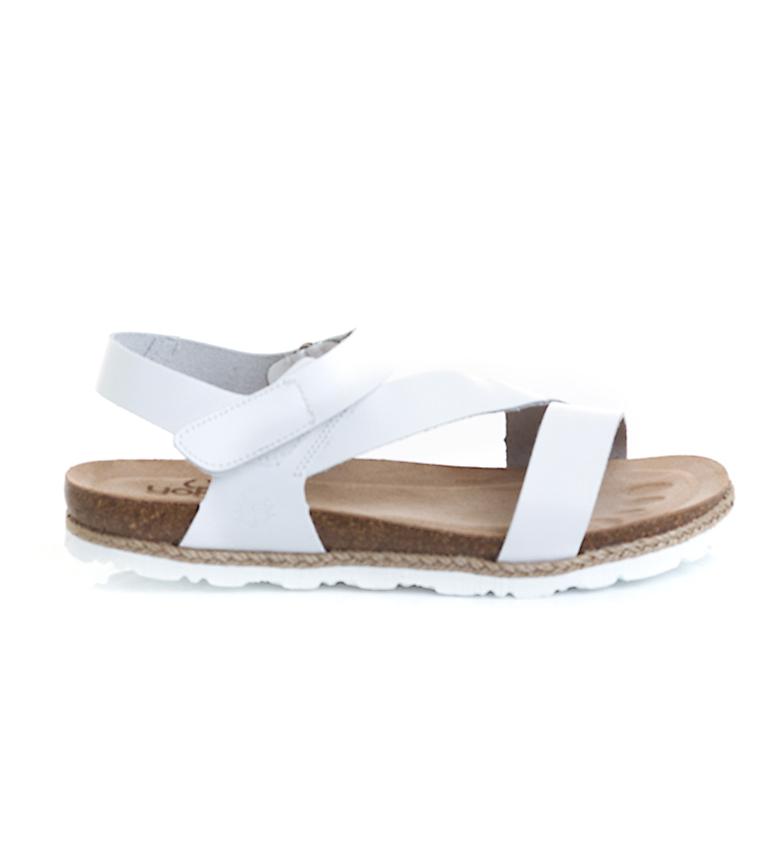 Comprar Yokono Sandálias planas em couro Chipre 145 branco
