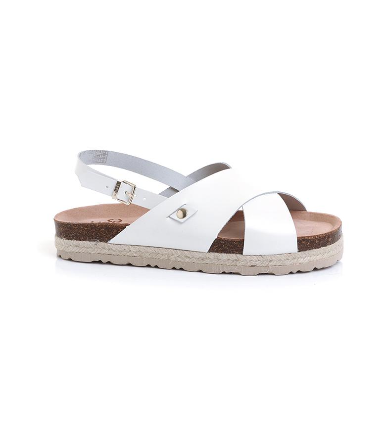 Comprar Yokono Sandali in pelle Java-153 bianchi