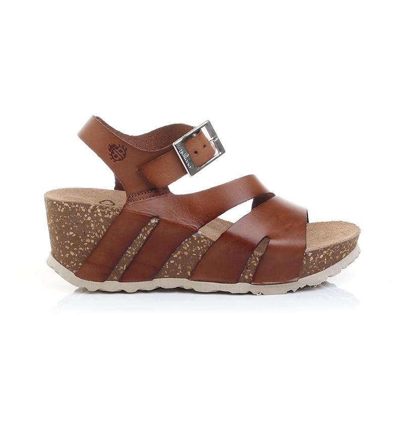 Comprar Yokono Sandalias de piel Bari 002 marrón -Altura cuña: 7cm-