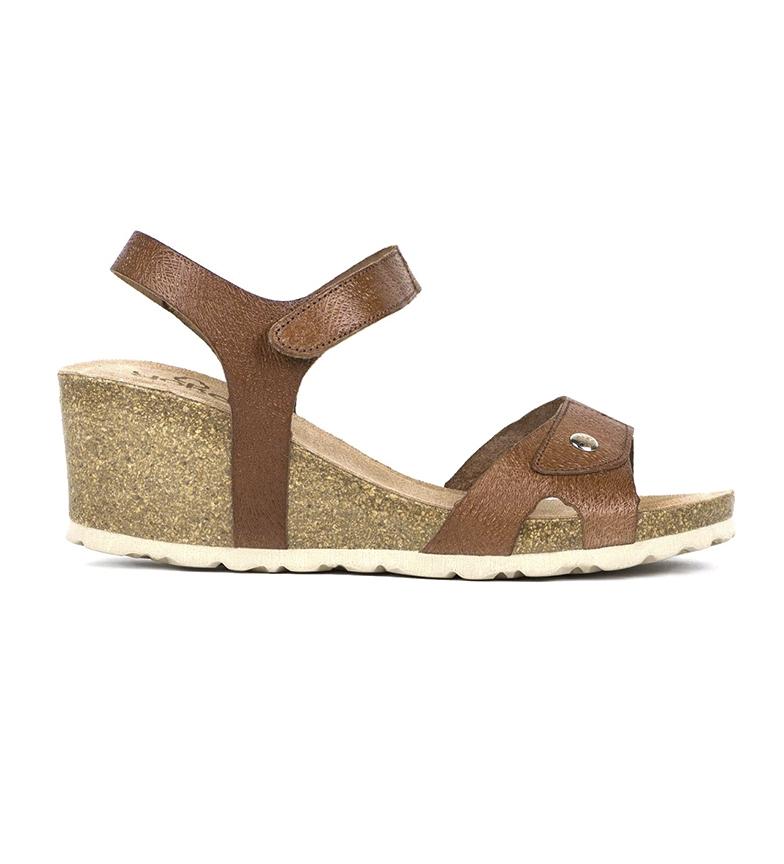 Comprar Yokono Sandalias de piel Cadiz 073 marrón -Altura cuña: 5,5cm-