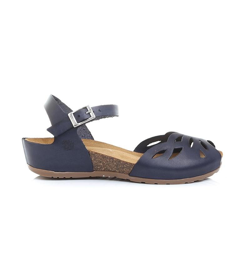 Comprar Yokono Marine Capri 003 leather sandals - Wedge height: 4cm