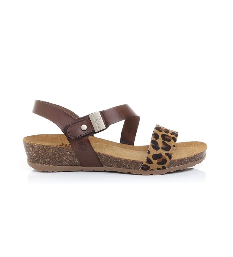 Comprar Yokono Capri 042 sandálias de couro - Altura da cunha: 4cm