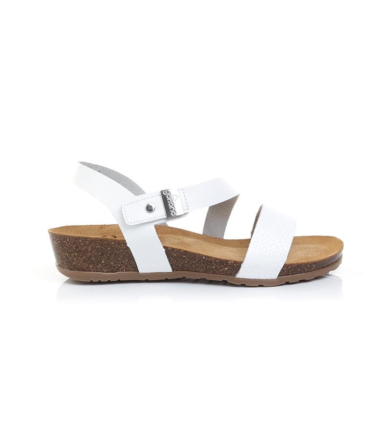 Comprar Yokono Capri 042 sandali in pelle bianca - Altezza zeppa: 4cm