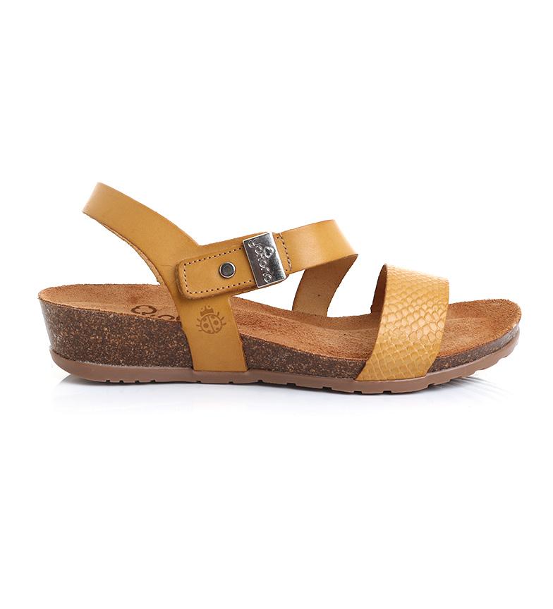 Comprar Yokono Sandálias de couro de mostarda Capri 042