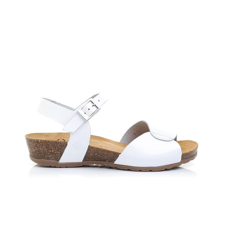 Comprar Yokono Sandalias de piel Capri 066 blanco -Altura cuña: 4cm-