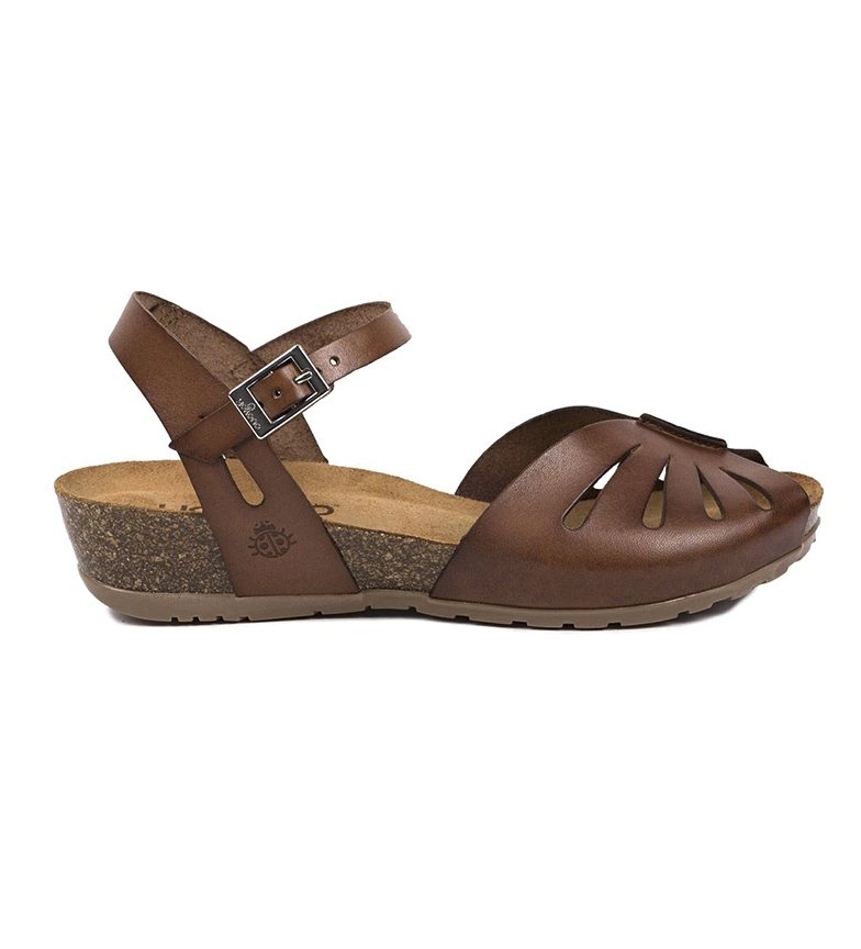 Comprar Yokono Sandalias de piel Capri 071 marrón -Altura cuña: 4cm-
