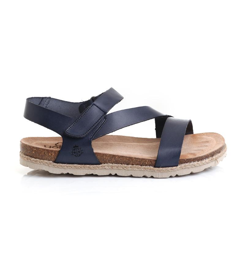 Comprar Yokono Sandali Cyprus 145 in pelle blu navy