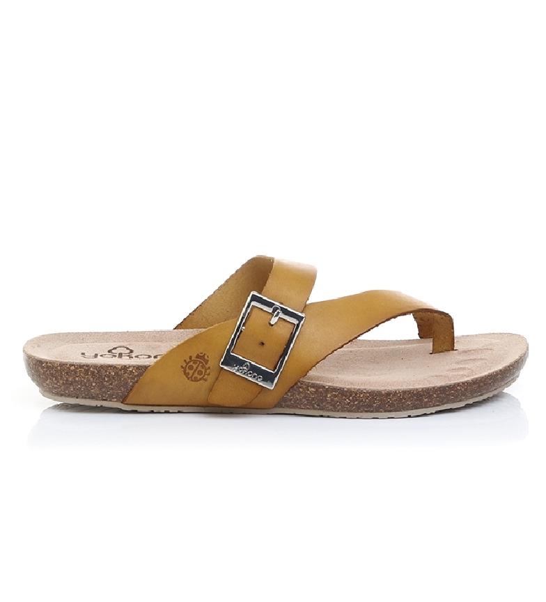 Comprar Yokono Sandálias de couro Ibiza 013 mostarda