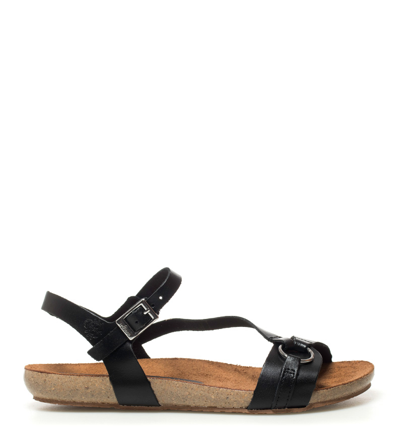 Comprar Yokono Ibiza 068 black leather sandals