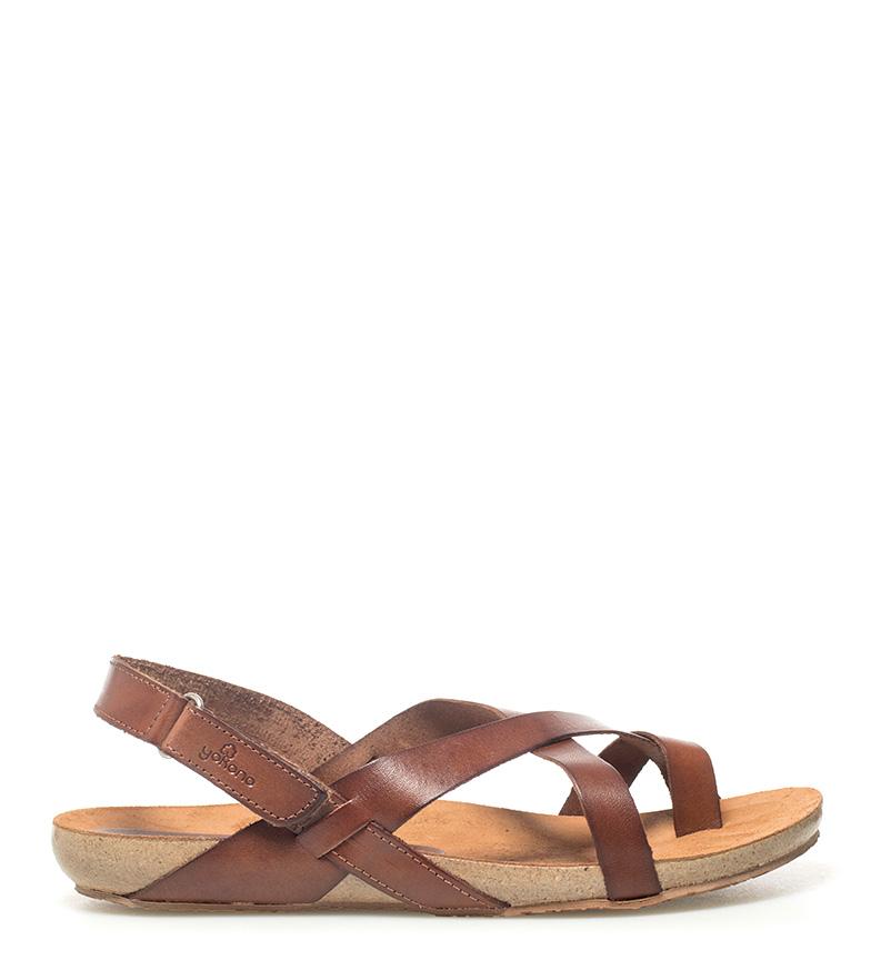 Comprar Yokono Leather sandals Ibiza 718 camel
