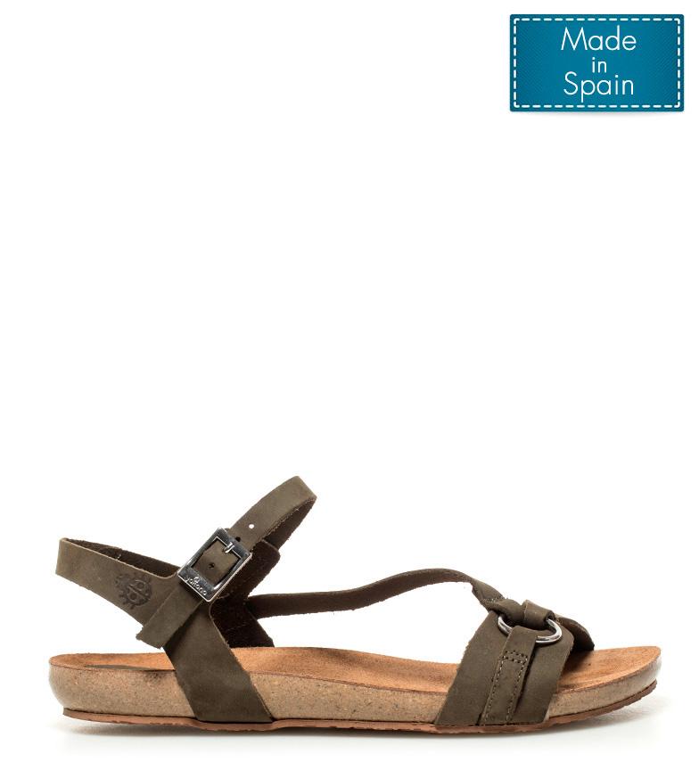 Yokono - Sandalias de piel Ibiza kaki KZgIbggbzD