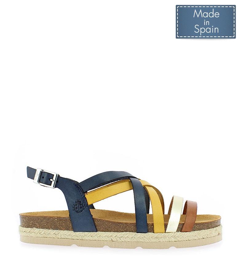 Comprar Yokono Java 057 marine leather sandals - Platform height: 3cm