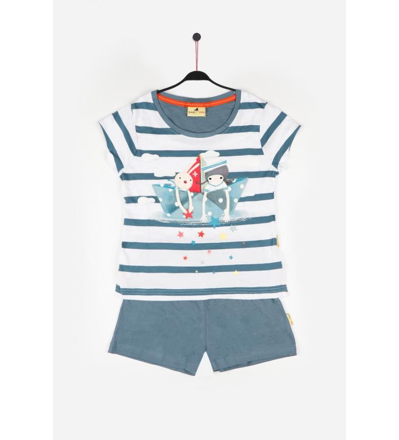 Comprar Santoro Bateau en papier Pyjama à manches courtes bleu